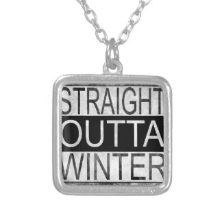 Straight outta WINTER Silver Plated Necklace