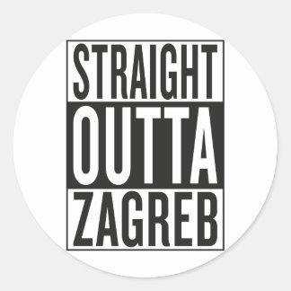 straight outta Zagreb Classic Round Sticker
