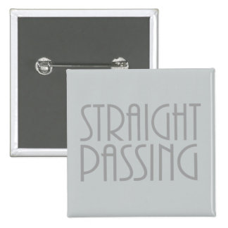 Straight Passing 2 Inch Square Button