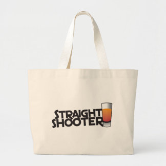 straight shooter large tote bag