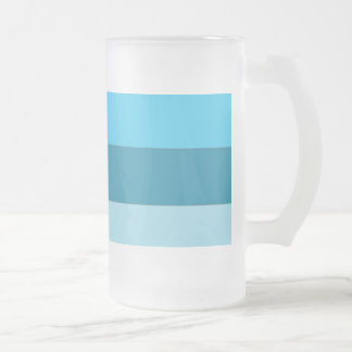 Straight Waves Frosted Glass Beer Mug