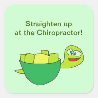 Straighten up Chiropractor Stickers