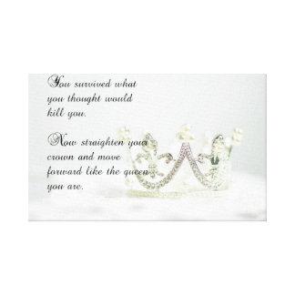 Straighten Your Crown Canvas Print