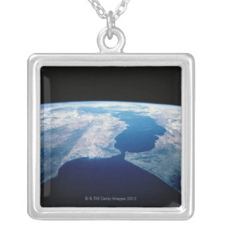 Strait of Gibraltar Silver Plated Necklace