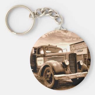 Stranahans Delivery Truck - Sepia Toned Keychain