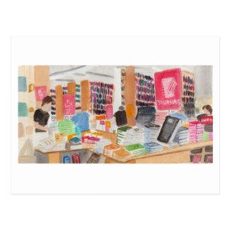 Strand Bookstore Watercolor Postcard