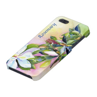 Strand of White Flowers with Blue and Green iPhone 5 Case
