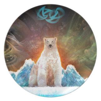 Stranded Polarbear Plate