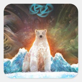 Stranded Polarbear Square Sticker