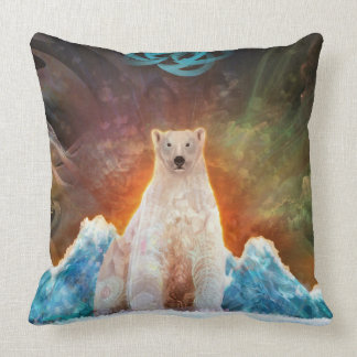 Stranded Polarbear Throw Pillow