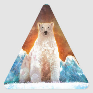 Stranded Polarbear Triangle Sticker