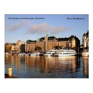 Strandvägen and Nybrokajen, Stockh... Postcard