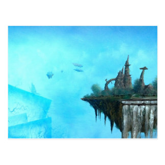 strange alien world postcard