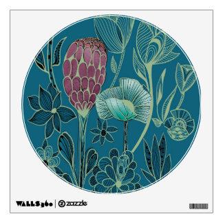 Strange and exotic garden wall sticker