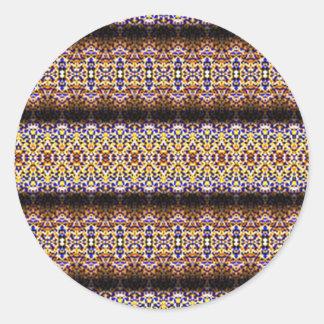Strange and unusual pattern round sticker