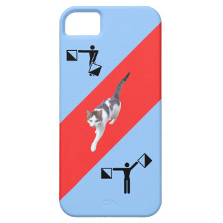 Strange art with cat iPhone 5 cases