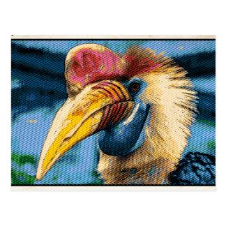 Strange bird postcard