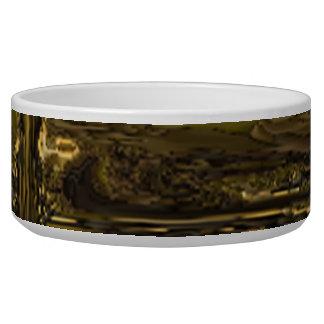 Strange chaotic pattern dog bowls