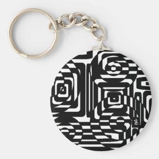 strange checkerboard keychain