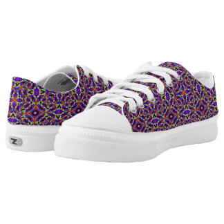 Strange colourful pattern Low-Top sneakers