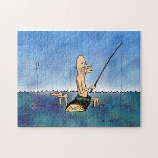 Strange Day Fishing Funny Cartoon Puzzle