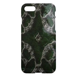 Strange different green white patterm iPhone 7 case