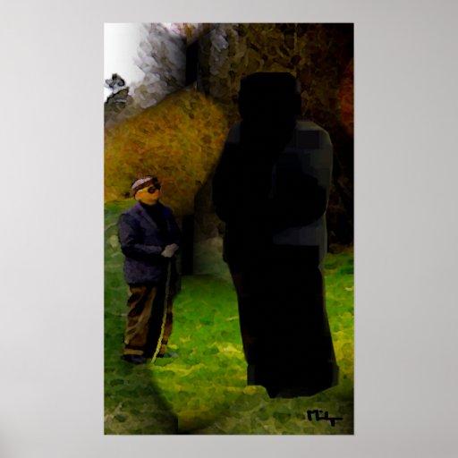strange encounter  in woods poster