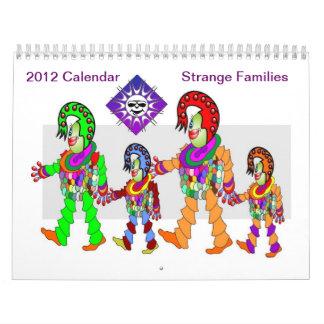 Strange Families 2012 Calendar