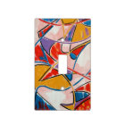 Strange Fish - Abstract Art Handpainted Light Switch Cover