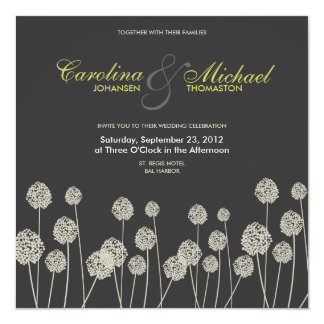 Strange Flowers Modern Wedding Invite