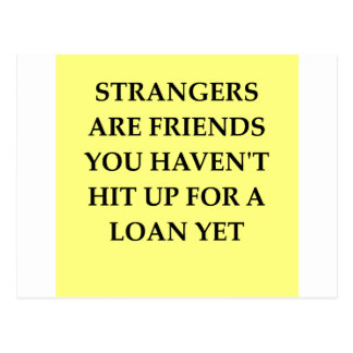 strange friends postcard