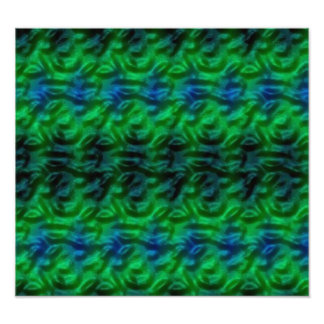 Strange green abstract pattern photo print