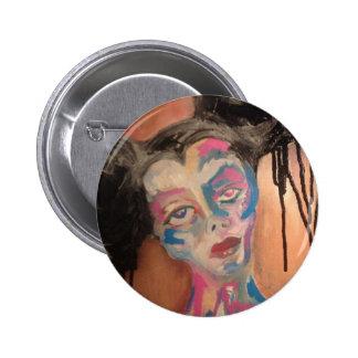 Strange grotesque portrait  button