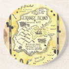 Strange Island Treasure Map Coaster