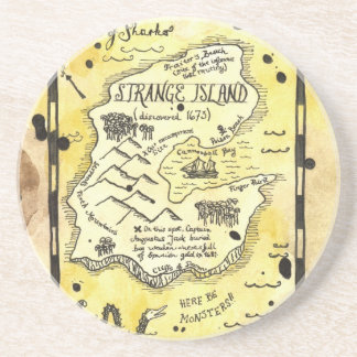 Strange Island Treasure Map Coaster