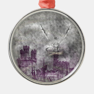 strange land Silver-Colored round ornament
