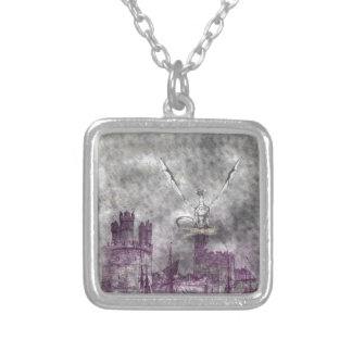 strange land silver plated necklace