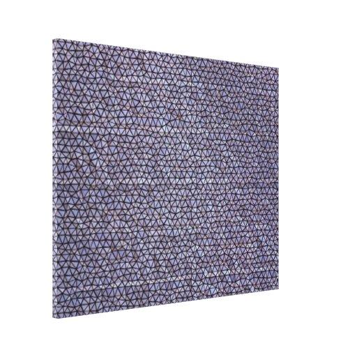 Strange mosaic pattern canvas print