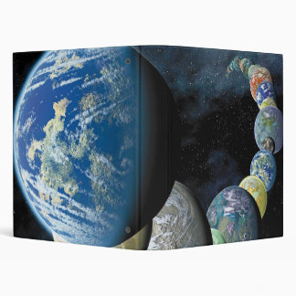 Strange New Worlds Alien Planet Montage Vinyl Binder