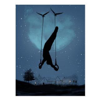 strange night postcard