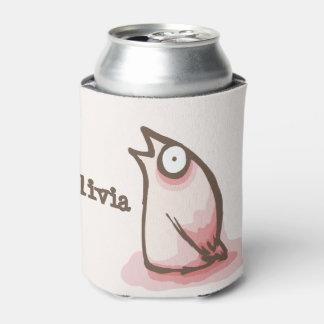 Strange Pink Birdie Can Cooler