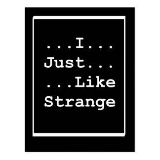 Strange Postcard