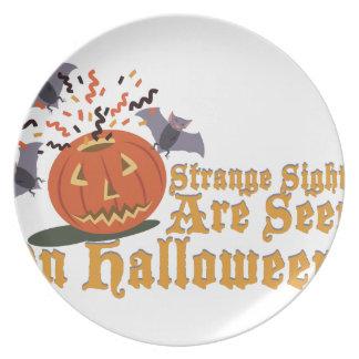 Strange Sights On Halloween Dinner Plate