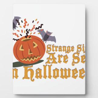Strange Sights On Halloween Plaque