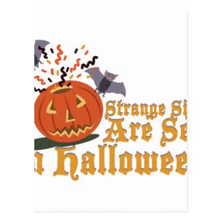 Strange Sights On Halloween Postcard