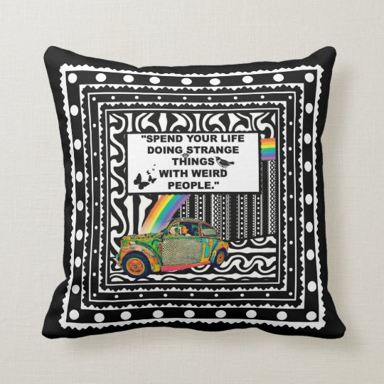 Strange Things With Weird People Throw Pillow