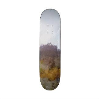 Strange unique landscape skate deck