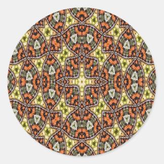 Strange unique unusual pattern round sticker