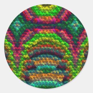 Strange unusual tiles round sticker