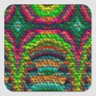 Strange unusual tiles square sticker